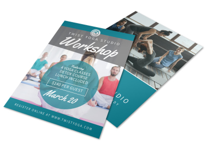 Yoga Fitness Workshop Flyer Template preview