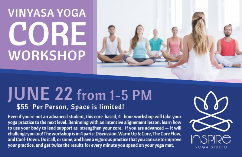 Core Yoga Workshop Postcard Template Preview 2