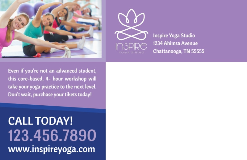 Core Yoga Workshop Postcard Template Preview 3