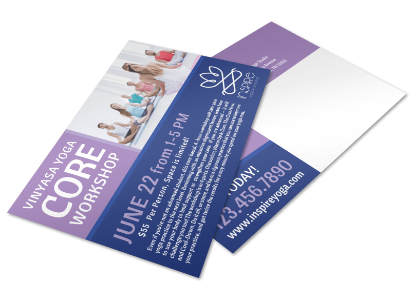 Core Yoga Workshop Postcard Template Preview 1