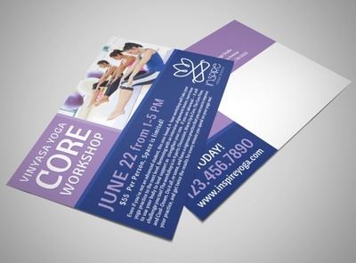 Core Yoga Workshop Postcard Template
