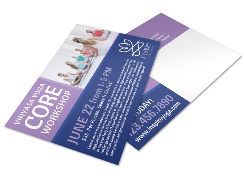 Core Yoga Workshop Postcard Template Preview 4