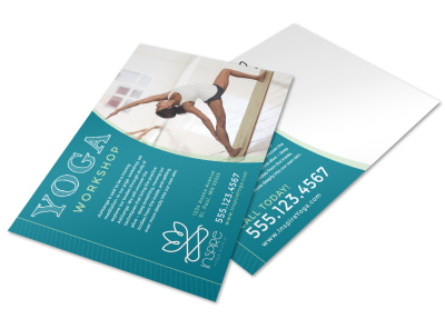 Yoga Workshop Postcard Template preview