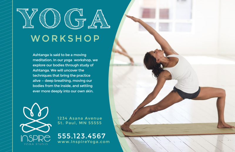 Yoga Workshop Postcard Template Preview 2