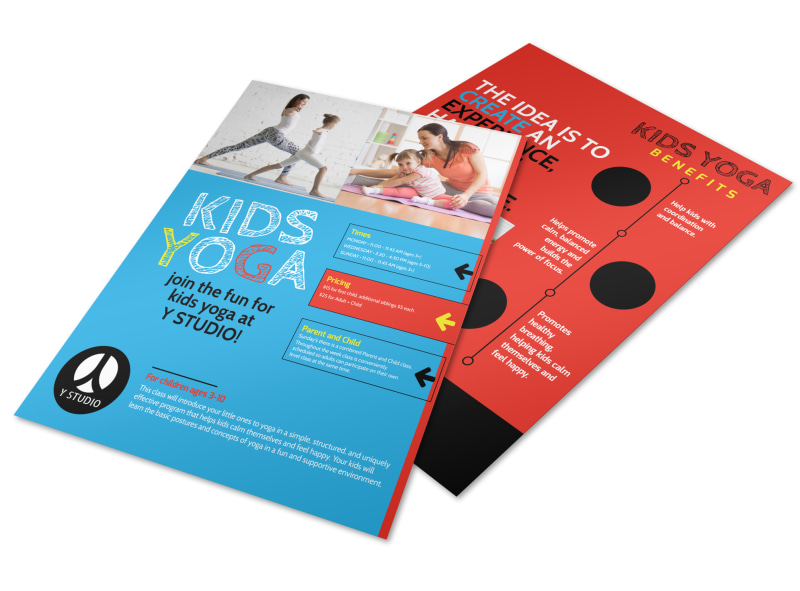 Playful Kids Yoga Flyer Template