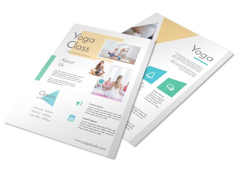 Stunning Yoga Class Details Flyer Template