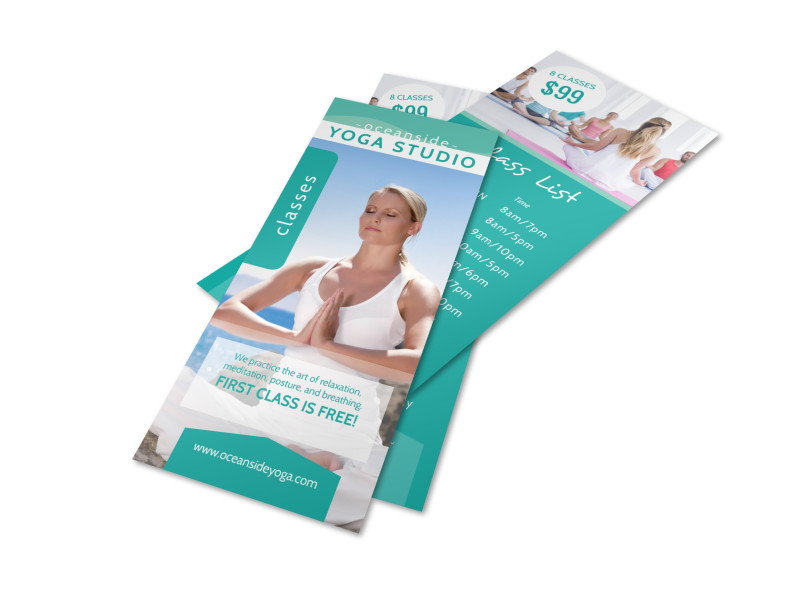 Yoga Studio Class Details Flyer Template Preview 4