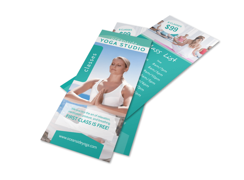 Yoga Studio Class Details Flyer Template Preview 1