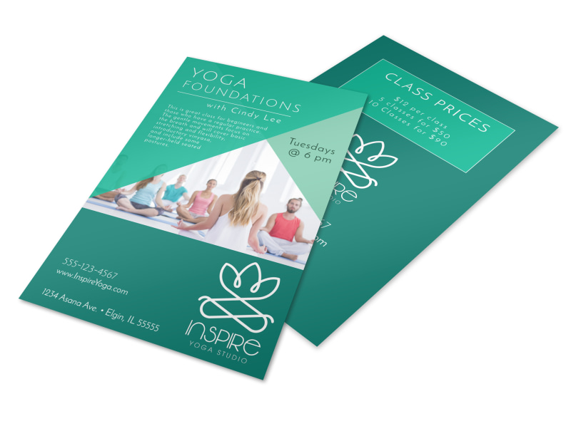Yoga Class Prices Flyer Template
