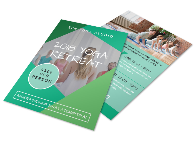 Annual Yoga Retreat Flyer Template