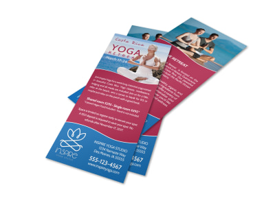 Inspiring Yoga Retreat Flyer Template preview