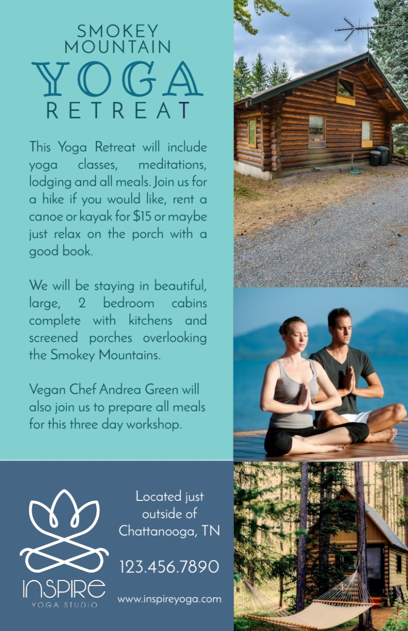 Mountain Yoga Retreat Flyer Template Preview 3