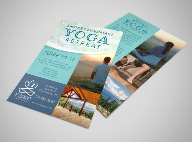Mountain Yoga Retreat Flyer Template