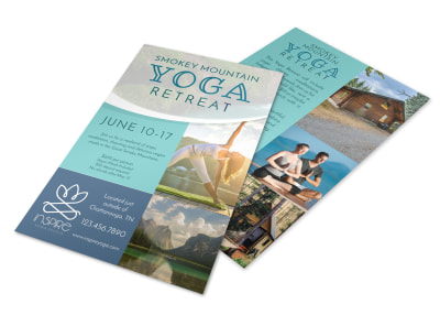 Mountain Yoga Retreat Flyer Template preview