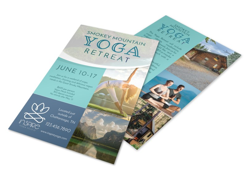 Mountain Yoga Retreat Flyer Template Preview 4