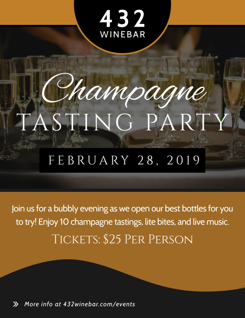 Champagne Tasting Party Flyer Template Preview 2