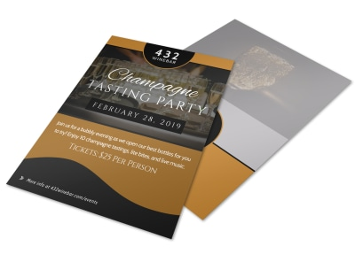 Champagne Tasting Party Flyer Template preview