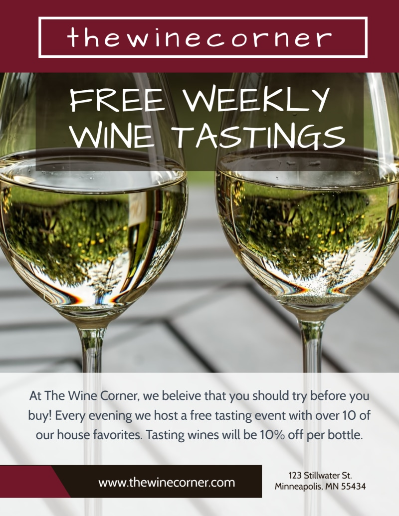 Weekly Wine Tasting Flyer Template Preview 2