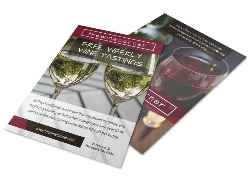 Weekly Wine Tasting Flyer Template Preview 1