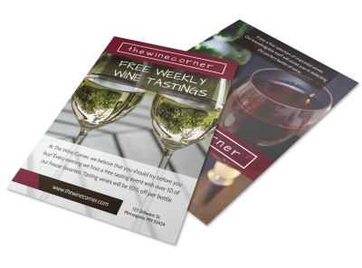Weekly Wine Tasting Flyer Template preview
