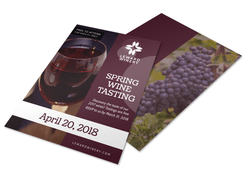 Spring Wine Tasting Flyer Template Preview 1