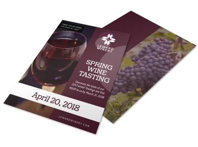 Spring Wine Tasting Flyer Template preview