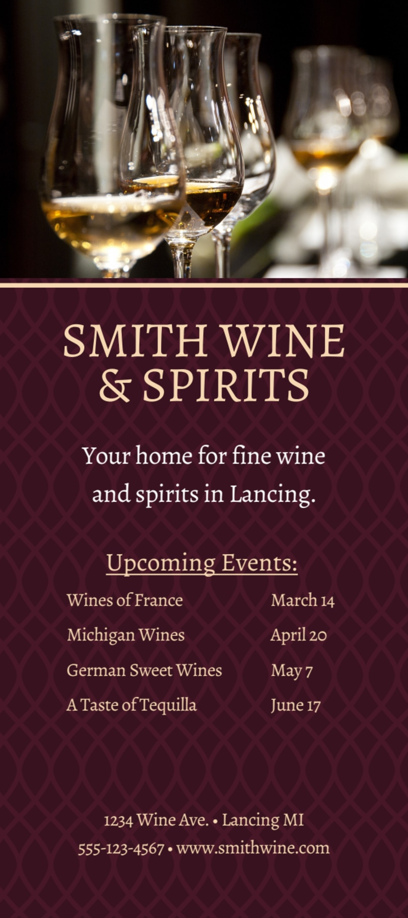 Smith Wine Tasting Flyer Template Preview 3