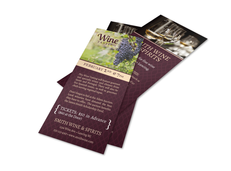 Smith Wine Tasting Flyer Template Preview 1