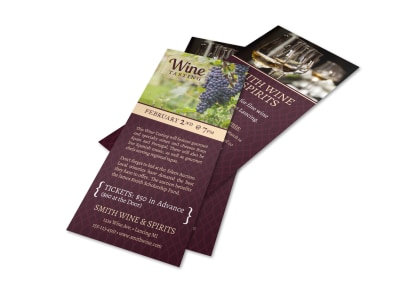 Smith Wine Tasting Flyer Template preview