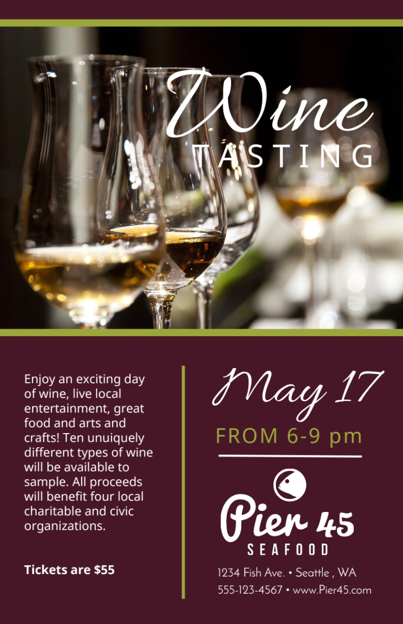 Restaurant Wine Tasting Flyer Template Preview 2
