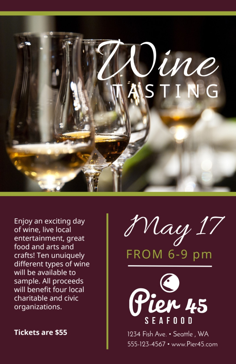 Restaurant Wine Tasting Flyer Template Preview 3