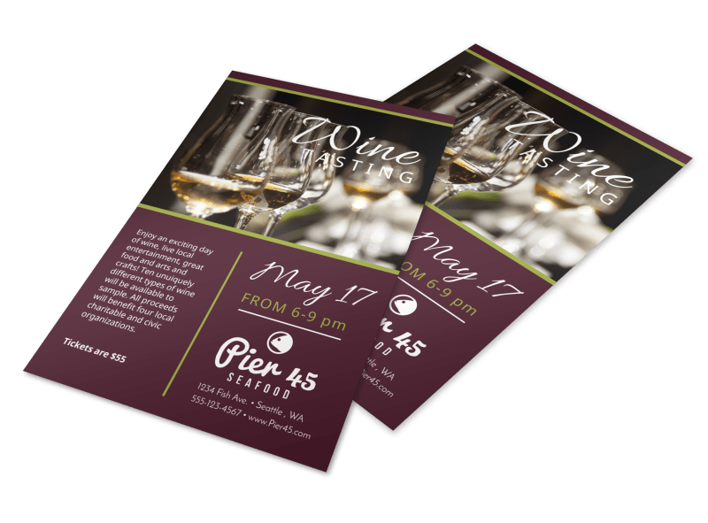Restaurant Wine Tasting Flyer Template Preview 1