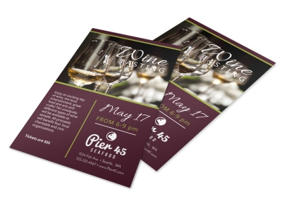 Restaurant Wine Tasting Flyer Template