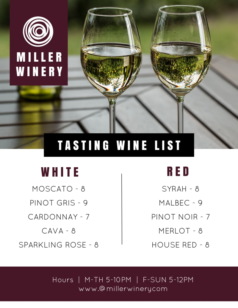 Tasting Wine List Flyer Template Preview 2