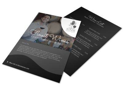 Finest Wine List Flyer Template preview