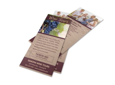 Wine Tours Flyer Template preview