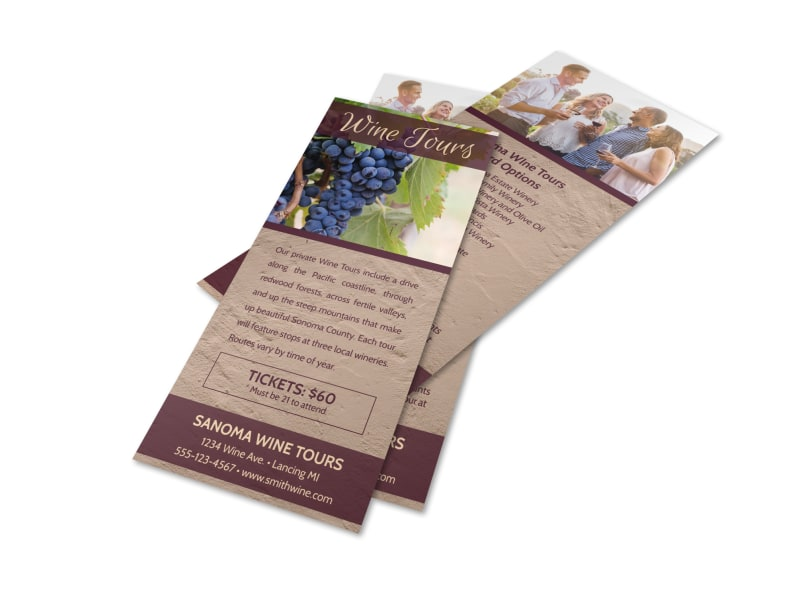 Wine Tours Flyer Template