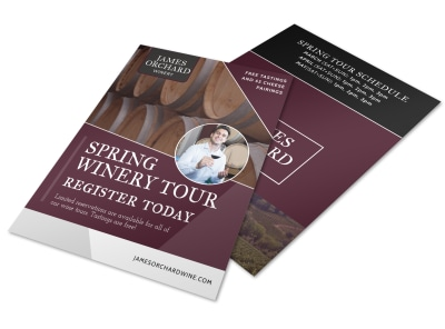 Spring Time Wine Tour Flyer Template preview