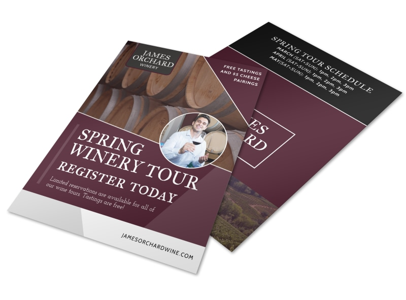 Spring Time Wine Tour Flyer Template