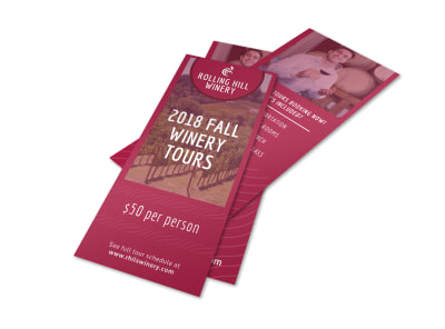 Fall Winery Tour Flyer Template preview