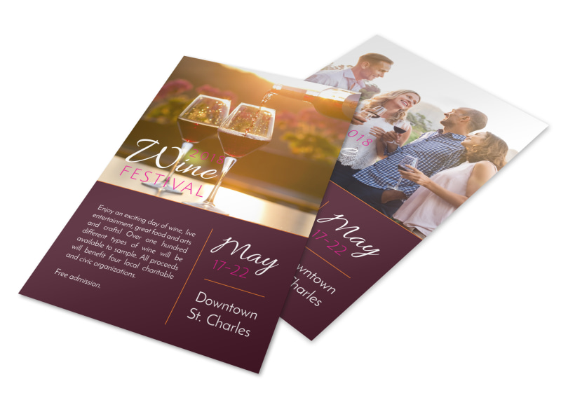 May Wine Festival Flyer Template