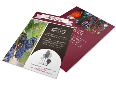 Wine Festival Flyer Template preview