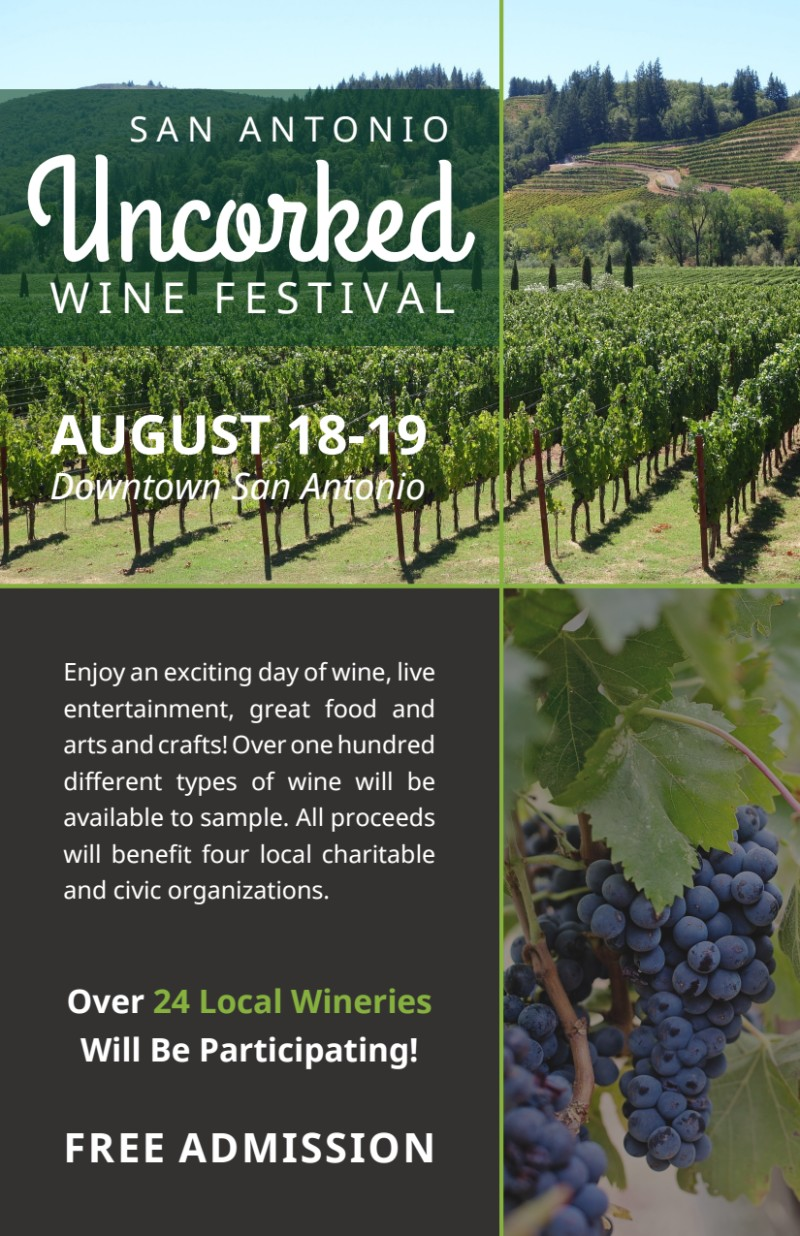 Uncorked Wine Festival Flyer Template Preview 2