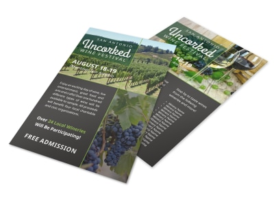 Uncorked Wine Festival Flyer Template preview