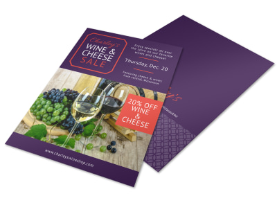 Wine & Cheese Sale Flyer Template preview