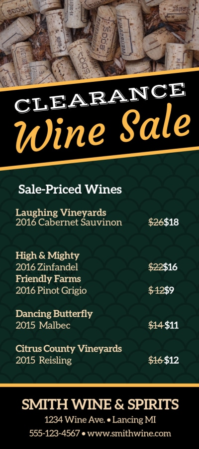 Clearance Wine Sale Flyer Template Preview 2
