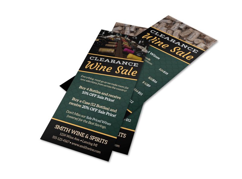 Clearance Wine Sale Flyer Template Preview 1