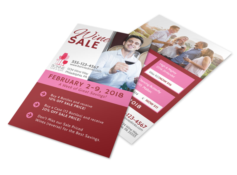 Red Wine Sale Flyer Template