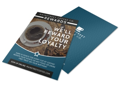 Coffee Rewards Flyer Template preview