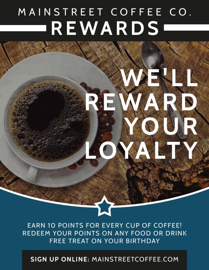 Coffee Rewards Flyer Template Preview 2